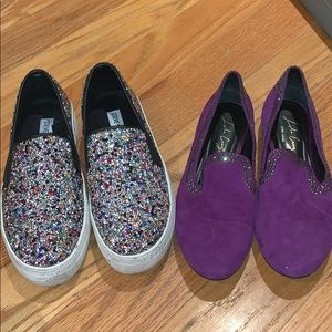 Lot 2 Bling Crystal Shoes - Steve Madden Gracious